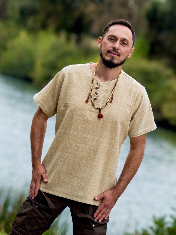 Hanf-Hemd  100 % Hanf handgewebt  Leinenhemd  von DressforEarth