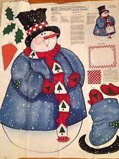 "Daisy Kingdom Smowman Door Panel fabric kit Christmas 1997 43"" tall"