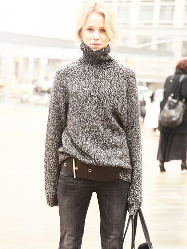street style: blonds look amazing in grey!!