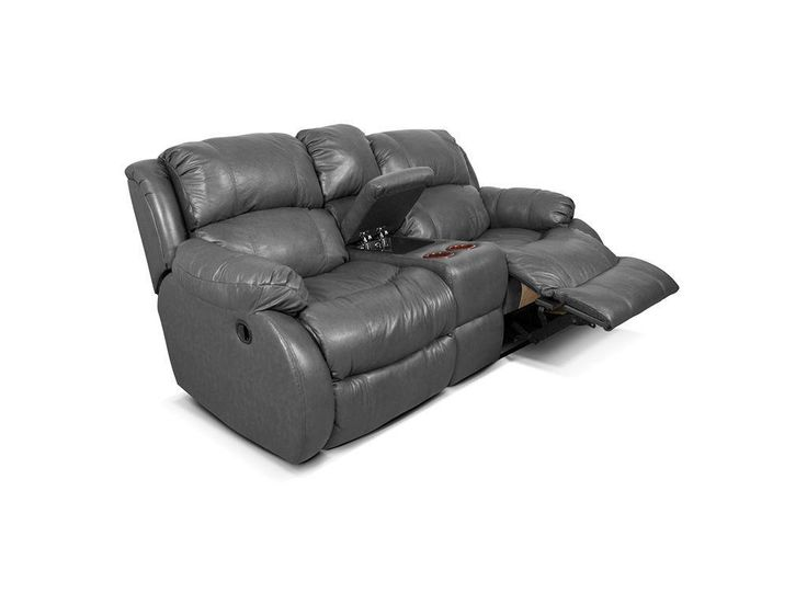 England Living Room Double Reclining Loveseat Console 201085L   Doughtyu0027s  Furniture Inc.   Clayton,