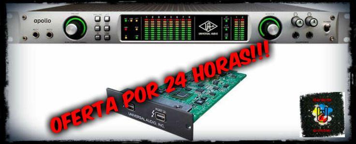 OFERTA VÁLIDA HASTA LAS 20 HS DEL DÍA DE HOY (28-05-2015)!!! UNIVERSAL AUDIO APOLLO DUO (CON PLACA THUNDERBOLT INCLUIDA). En stock para entrega inmediata. Producto nuevo con garantía válida en Argentina directo ante nosotros. Cualquier duda, no dejes de consultarnos y no dejes pasar esta oferta imperdible!!! Muchas gracias.