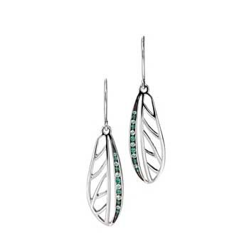 Fiorelli Silver Dragonfly Earrings With Swarovski Elements - yourgifthouse