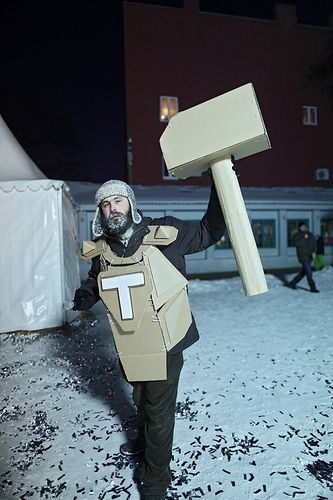 Cardboard Tube Fights  December 2012. Moscow.