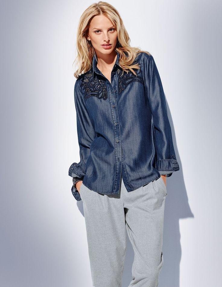 Bluse mit Lochstickerei | MADELEINE Mode