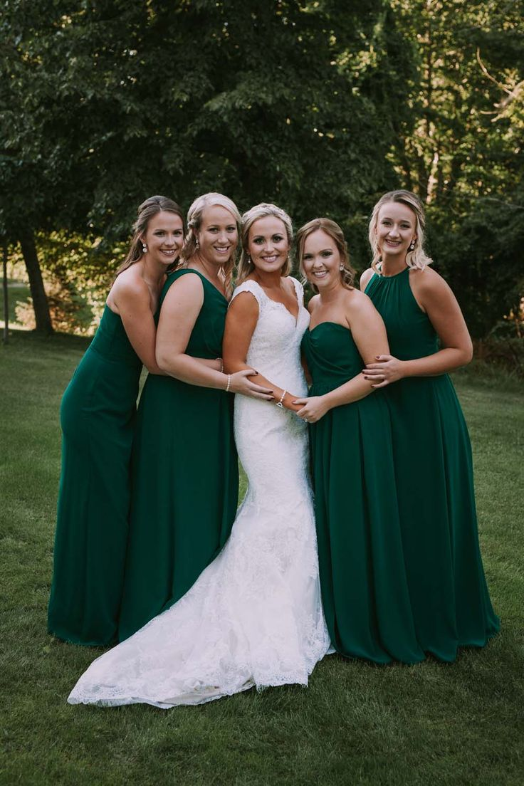 389 best bridesmaid dresses and gifts images on pinterest a greenery filled wedding in new brunswick green bridesmaid dresses ombrellifo Gallery