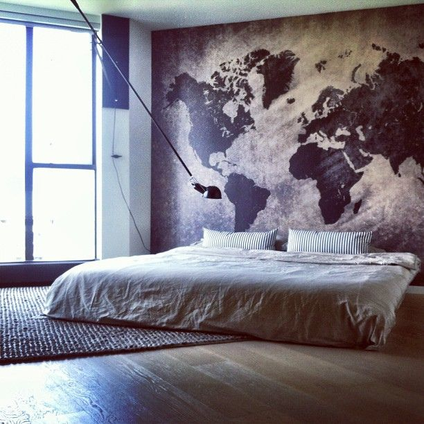 INTERIORS | bedrooms - a place to be inspired when you wake to every day, for this special room, the world traveller or at least inspired to travel the world by G A I L E, via Flickr
