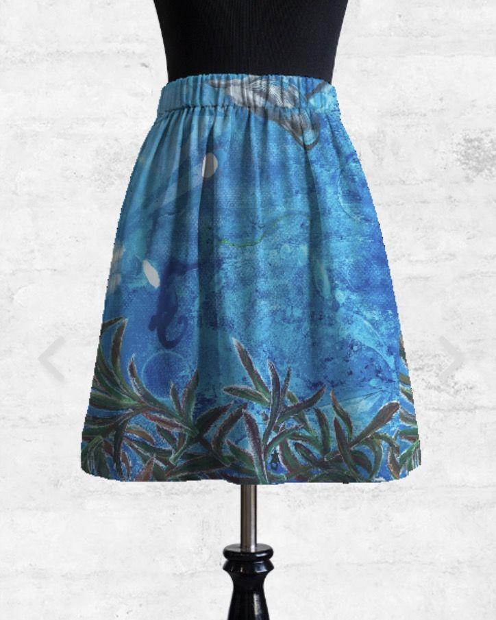 Cupro Skirt - Natura Flora Poppy by VIDA VIDA Buy Cheap Great Deals Free Shipping High Quality Free Shipping Footlocker Pictures Pictures Cheap Online ITfb7xI