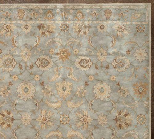 New 8x10 10x8 Gabrielle Blue Persian Handmade Woolen Area Rugs Carpet