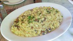 Risotto ai funghi misti con capesante, risotto mare e monti, risotto gourmet