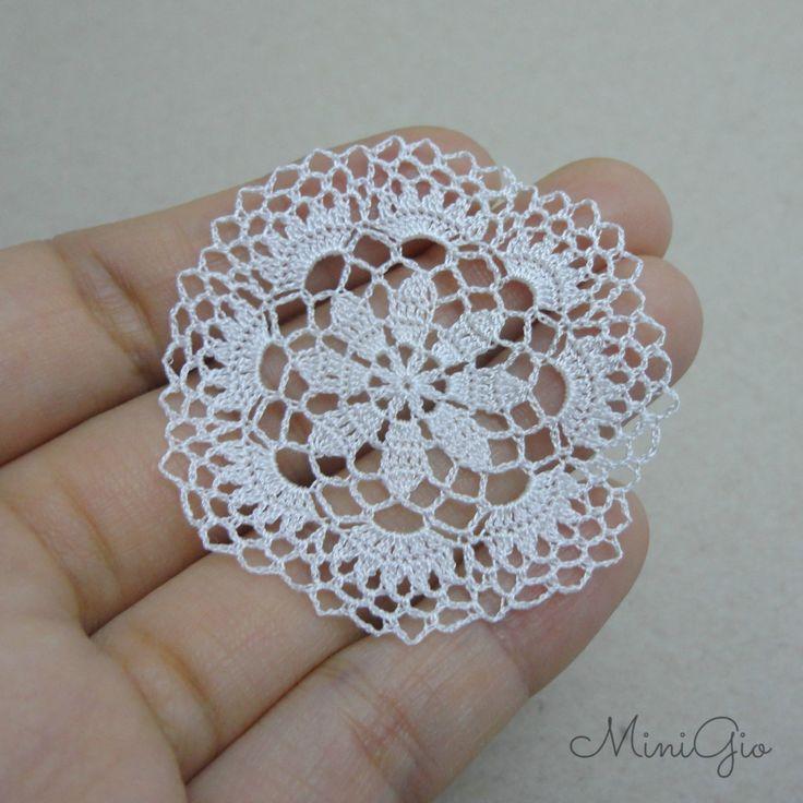 Miniature crochet round doily dollhouse crochet by MiniGio on Etsy