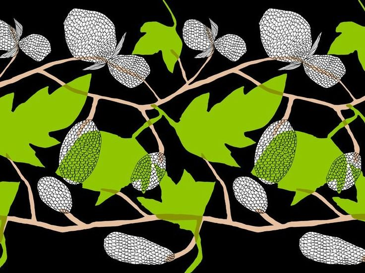 Tessuto stampato in cotone HUMALA by Marimekko