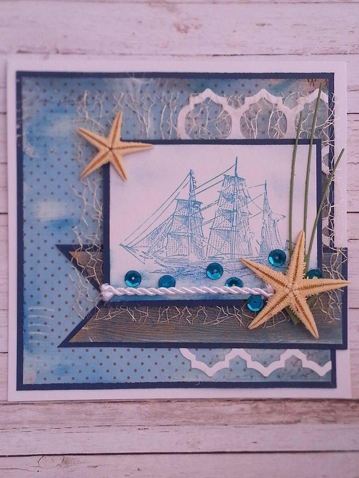 Sea, sailing boat and starfish
