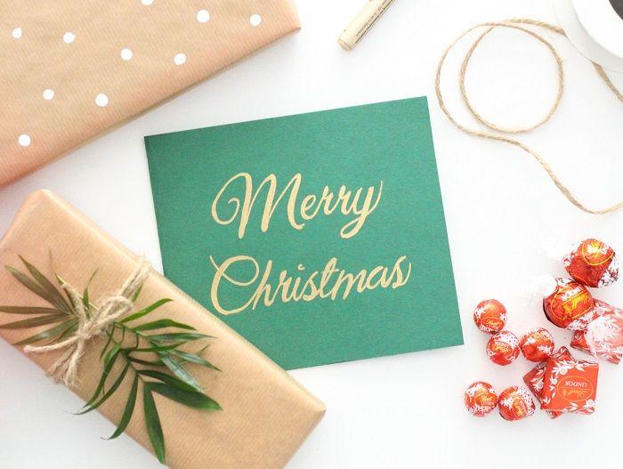 Geschenk einpacken Weihnachten