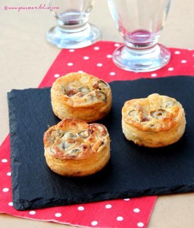 Mini quiches sans pâte au jambon et olives vertes