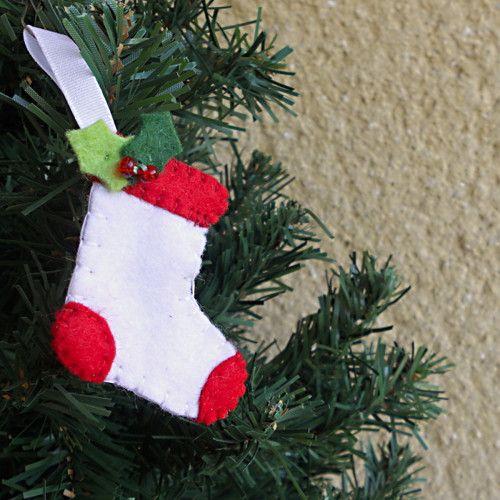 Ponožka - ozdobička na stromeček