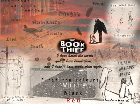"""Love the image deemed """"a montage for inspirations.  If you haven't read [The Book Thief] I hope this will encourage you to!"""""""