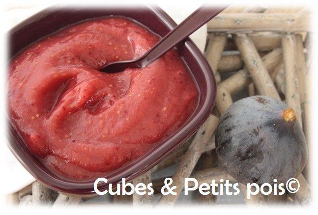 Compote aux figues pour bébé Recette dès 6 mois. - http://www.cubesetpetitspois.fr/recette-bebe-compote-figue/