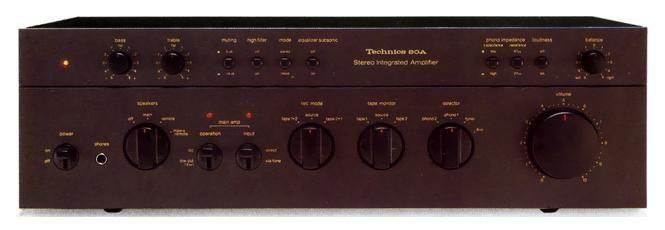 Il Technics SU-8080 fu il primo amplificatore integrato di potenza e prezzo medi ad avere ottime prestazioni in termini di distorsione da intermodulazione dinamica. Ai suoi tempi, un culto.