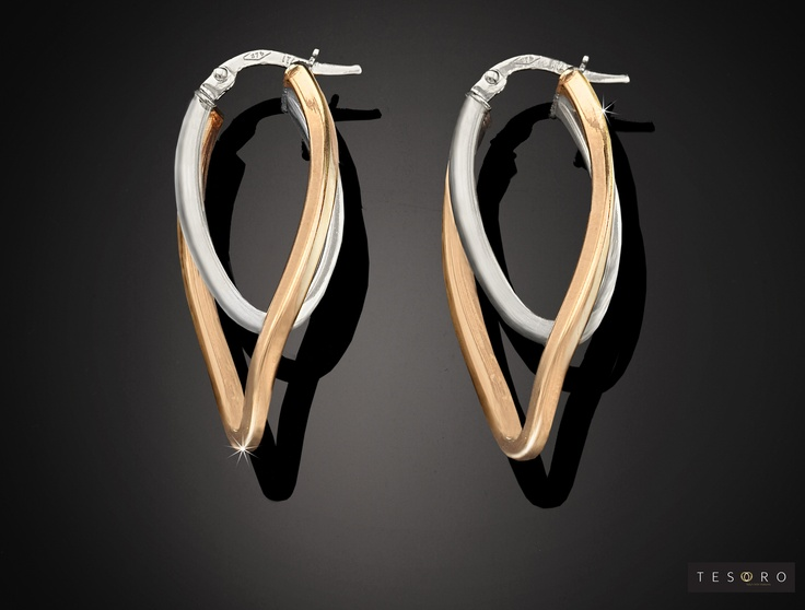 Tesoro Earring - GV537/9E WR  Available in Yellow gold, White gold, Rose & White and Yellow & White combination RRP $380.00