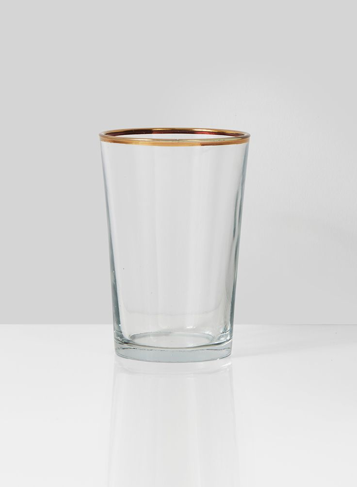 A pretty gold rim adds a nice finishing touch to this clear glass votive candle holder that you can use with our tea light in a clear holders or a votive candle. These votive holders are a perfect match for tables where you use our matching gold rim glass