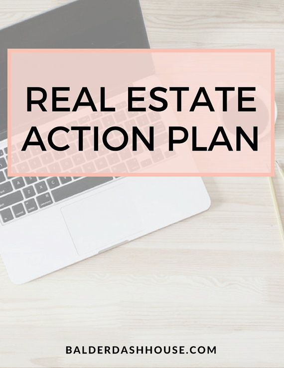 Real Estate Agent Action Plan Template Real Estate Templates