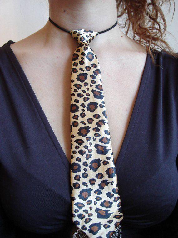 70572f69cac5 Leopard necktie Animal print necktie for womens Catwomen tie little  neckties for boys satin necktie