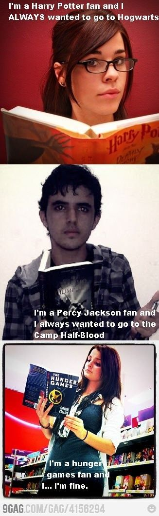Yeah, basically.The Hunger, Geek Stuff, Percyjackson, I M Fine, Hunger Games, Hungergames, Games Fans, Harry Potter, Percy Jackson