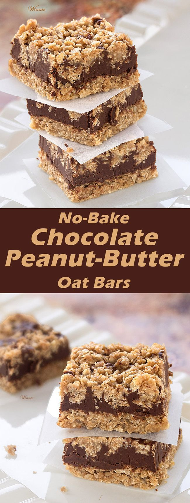 No-Bake Chocolate, Peanut-butter Oat Bars | Recipe | Bar, Oat bars and ...
