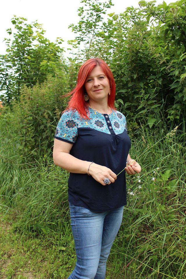 """Shirt """"Marla"""" genäht von Womsie werkelt: http://www.kreativlaborberlin.de/schnittmuster/shirt-marla/"""