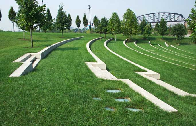 Terraced Lawn Seating Google Search Landscape Stairs Landscape Architecture Urban Landscape