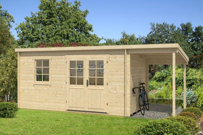 Gartenhaus York-28 mit Schleppdach - A-Z Gartenhaus-GmbH