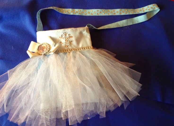 Frozen Tutù bag - borsa di frozen con tutù - Elsa. Adatta anche per Carnevale come porta-coriandoli.