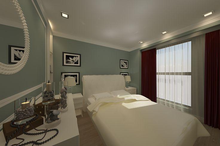 Design interior dormitor apartament 2 camere in Constanta.Proiectare mobila dormitor de lux import Italia .