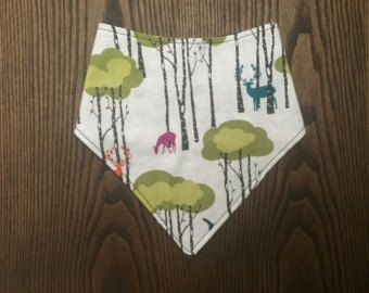 bandana bib- deer and trees  hunting bandana bib -  cute for baby or toddler- keep your babies fashionable and dry Edit Listing - Etsy