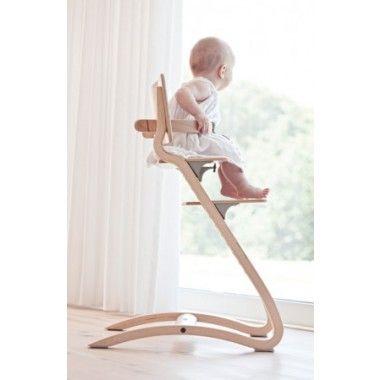 Chaise haute évolutive Leander bois naturel