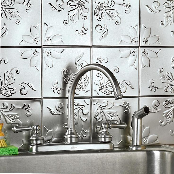 Floral Tin Tile Back Splash For Kitchen Adding This Diy Project To