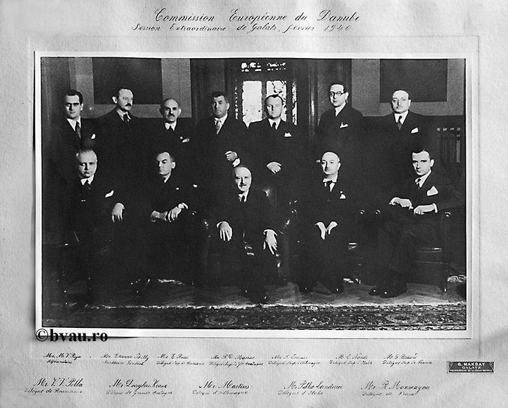 """Comisia Europeană a Dunării, 1940, Galati, Romania. Imagine din colecţiile Bibliotecii Judeţene """"V.A. Urechia"""" Galaţi."""