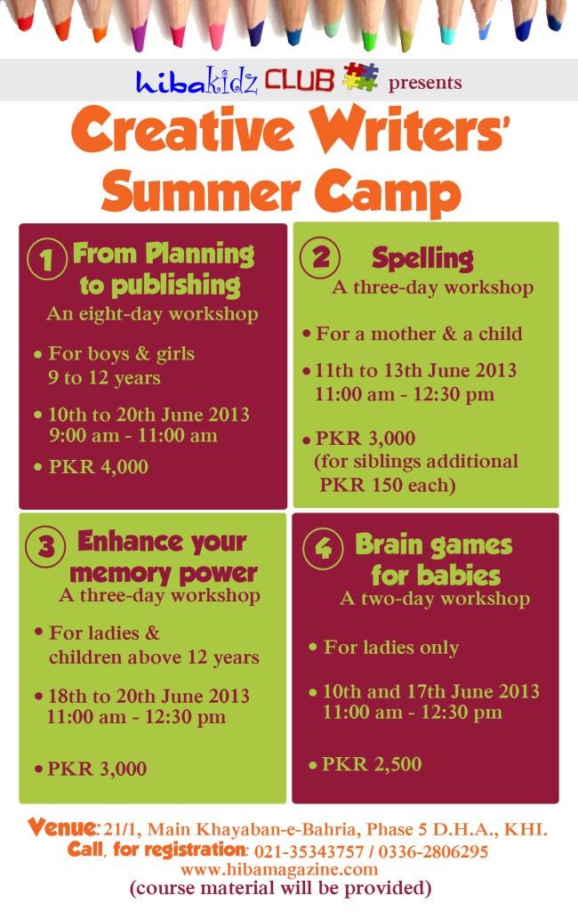 creative writing summer program