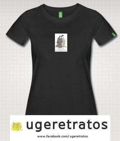 Camiseta de chica personalizada con la ilustración. Detalle para las invitadas