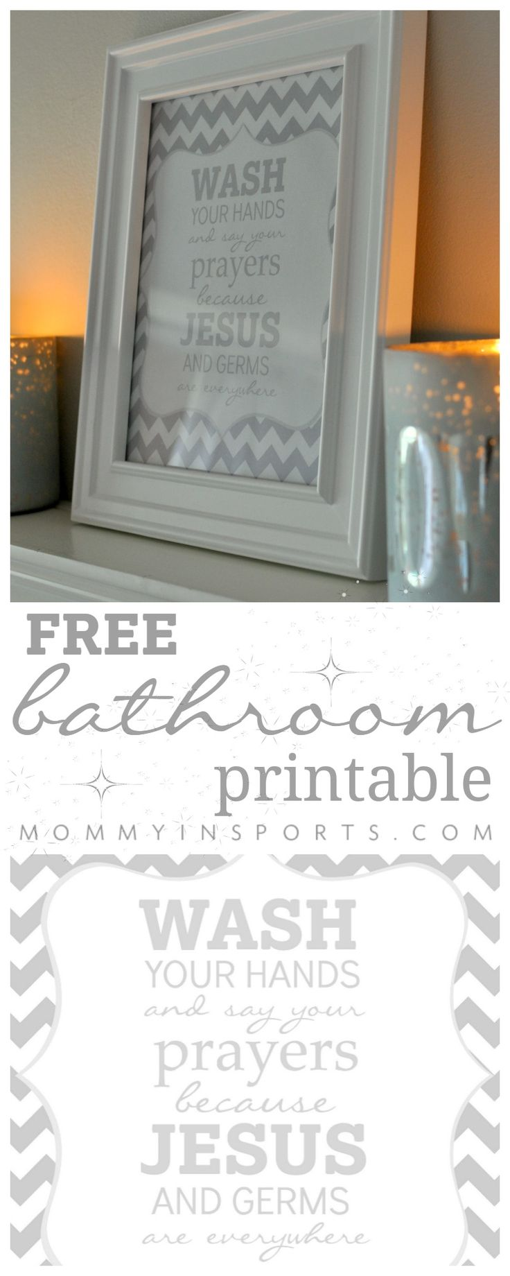Bathroom wall art printables - Free Bathroom Printable