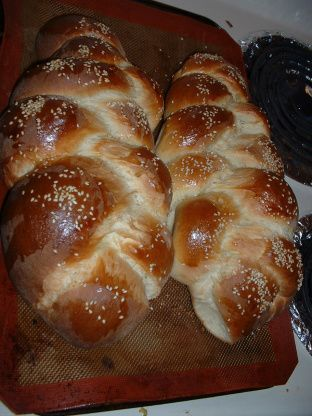 This recipe originally comes from Kosher by Design by Susie Fishbein. Ive been making this challah every week for the last two months, and it makes a delicious, rich challah. I dont use the bread machine method, making the dough in my Kenwood mixer and giving the final knead by hand, then braiding the challah and baking it in the oven. Im posting this as a bread machine recipe at the request of Miraklegirl. BTW, I dont use all the water called for in the recipe, I usually add a bit at a time…