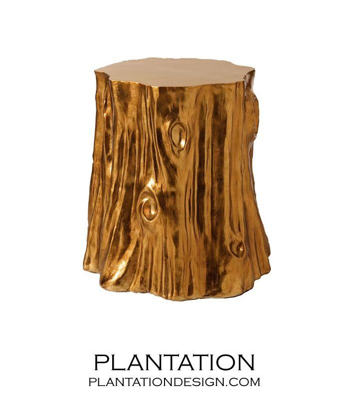 Golden Tree Stump #Stool: Design Chairs, Chair Design, Trunk Stool, Chairs Fashion, Chairs Design