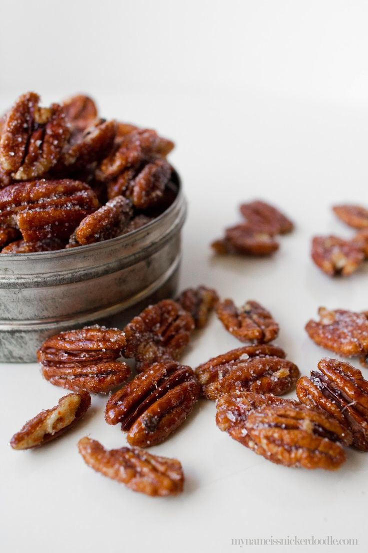 Sweet and Spicy Pecans Recipe.  These are super addicting and would make a great neighbor gift!