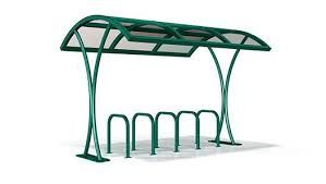 Bike shelters are perhaps good option as they also come with around 10 years of guarantee. http://velodomeshelters.com