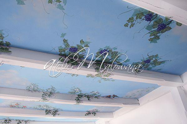 Malarstwo ścienne, iluzjonistyczne - sufit w Atelier Malowana. © 2014 Atelier Malowana. All rights reserved. http://ateliermalowana.pl/
