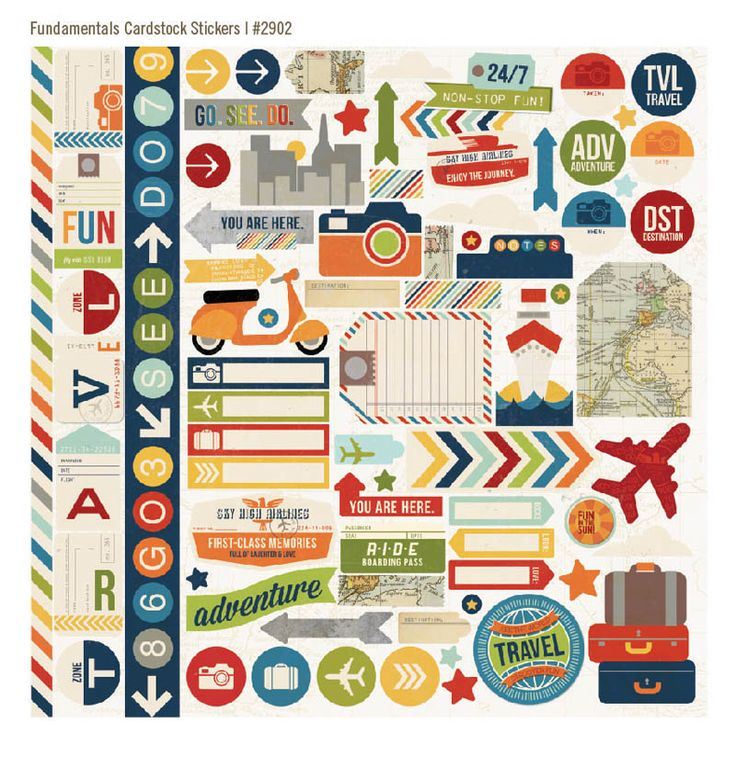 Urban Traveler Simple Stories Cardstock Stickers