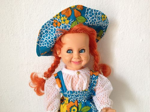 Ratti Doll Pusle Pippi. Vintage outfit.
