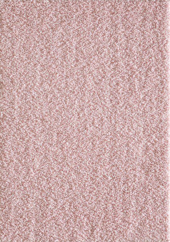 Vloerkleed Licht Roze Hoogpolig Tapijt Loca -  120x170 cm