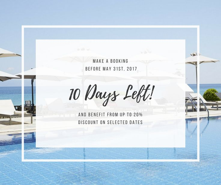 Only 10 days left to claim our amazing offer & book a #luxury stay at the recently renovated #AmmonZeus with up to 20% discount. An additional 5% will also be included for those that choose to book via our brand new website. Paradise is only just a click away.  Begin Now. #AmmonZeus #Chalkidiki #Greece