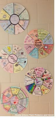 Memory Wheels - First Day, Last Day, and Any Day in Between! Memory wheels are great for an end of year activity.